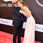 Elisabetta Canalis with Roberto Cavalli in Berlin at GQ Man of the Year Awards 97355