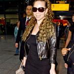 Mariah Carey arriving at Heathrow today 35936