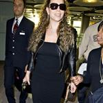 Mariah Carey arriving at Heathrow today 35934