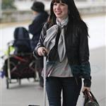 Carly Rae Jepsen in Vancouver at YVR heading for Los Angeles  106800
