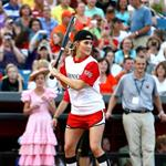 Carrie Underwood at a charity softball game 40931