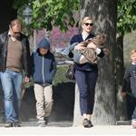 Cate Blanchett holiday in Paris with sons and husband Andrew Upton  110405
