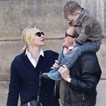 Cate Blanchett holiday in Paris with sons and husband Andrew Upton  110426