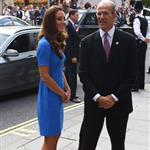 Catherine, Duchess of Cambridge vistis the National Portrait Gallery to attend an Olympic exhibition in London 121168