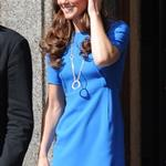 Catherine, Duchess of Cambridge vistis the National Portrait Gallery to attend an Olympic exhibition in London 121169
