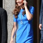 Catherine, Duchess of Cambridge vistis the National Portrait Gallery to attend an Olympic exhibition in London 121170