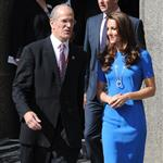 Catherine, Duchess of Cambridge vistis the National Portrait Gallery to attend an Olympic exhibition in London 121171