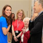 Catherine, Duchess of Cambridge vistis the National Portrait Gallery to attend an Olympic exhibition in London 121175