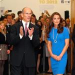 Catherine, Duchess of Cambridge vistis the National Portrait Gallery to attend an Olympic exhibition in London 121181