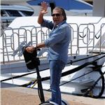 Roberto Cavalli on his Segway  85712