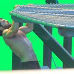 Henry Cavill shirtless shooting Superman with green screen in Vancouver  97123