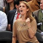 Celine Dion and family at the Knicks game 51897