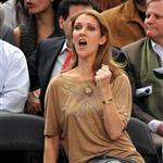 Celine Dion and family at the Knicks game 51899