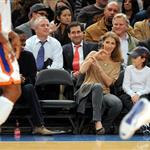 Celine Dion and family at the Knicks game 51900