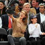 Celine Dion and family at the Knicks game 51901