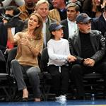 Celine Dion and family at the Knicks game 51903