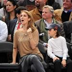 Celine Dion and family at the Knicks game 51905