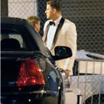 Channing Tatum and Jonah Hill in tuxedos filming 21 Jump Street 87773