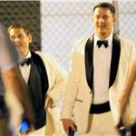 Channing Tatum and Jonah Hill in tuxedos filming 21 Jump Street 87775