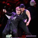 Channing Tatum and Elton John perform on stage at the Revlon concert for the Rainforest Fund at Carnegie Hall  110559