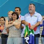 Crown Princess Charlene of Monaco with Chad Le Clos's Family 122178