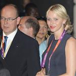Prince Albert II of Monaco and Princess Charlene of Monaco leave the Royal Opera House after a royal reception and gala for the International Olympic Committee in London 121517
