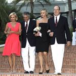 Prince Albert and Charlene Wittstock at the Monte Carlo Golf Club 100th anniversary 92925