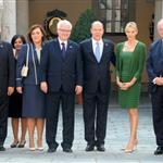 Prince Albert and Princess Charlene meeting President Ivo Josipovitch in Monaco 95702