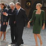 Prince Albert and Princess Charlene meeting President Ivo Josipovitch in Monaco 95709