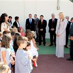 Princess Charlene on official duty alone without Prince Albert in Turbie  95314