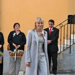 Princess Charlene on official duty alone without Prince Albert in Turbie  95317