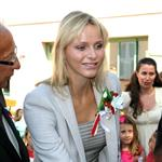 Princess Charlene on official duty alone without Prince Albert in Turbie  95322