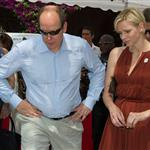 Charlene Wittstock with Prince Albert at a Red Cross event in Monaco 119398