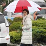 Zac Efron and Amanda Crew shoot bloody scene for Charlie St Cloud in Vancouver 61420