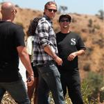 Charlie Hunnam on the set of Sons Of Anarchy  119409