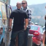 Charlie Hunnam on the set of Sons Of Anarchy  119420