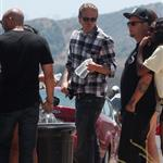 Charlie Hunnam on the set of Sons Of Anarchy  119422