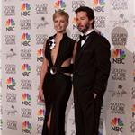 Charlize Theron and Keanu Reeves at the 58th Annual Golden Globe Awards in 2001 60411
