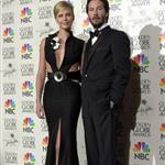 Charlize Theron and Keanu Reeves at the 58th Annual Golden Globe Awards in 2001 60413