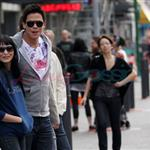 Chaske Spencer and Tinsel Korey in Vancouver 47708