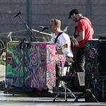 Coldplay rehearsing for their performance at the Closing Ceremony at the London 2012 Paralympics 125482