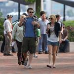 Chris Evans and Anna Faris shoot What's Your Number in Boston 63334