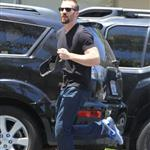Chris Evans heads to the dermatologist  in Studio City 121512
