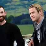 Chris Evans and Chris Hemsworth appear on Good Morning America 112848