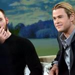 Chris Evans and Chris Hemsworth appear on Good Morning America 112850