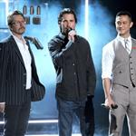 Gary Oldman, Christian Bale and Joseph Gordon-Levitt at the 2012 MTV Movie Awards 116429