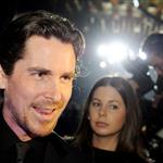 Christian Bale arrives on the red carpet for the screening of the film The Flowers of War in Beijing 100804