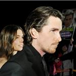 Christian Bale arrives on the red carpet with his wife Sibi for the screening of the film The Flowers of War in Beijing 100805
