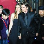 Christian Bale arrives on the red carpet with his wife Sibi for the screening of the film The Flowers of War in Beijing 100808