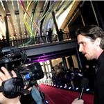 Christian Bale arrives on the red carpet for the screening of the film The Flowers of War in Beijing 100810